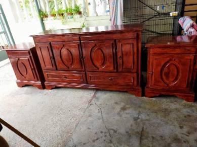 Cabinet tv Dan meja makan marbel 4 kerusi