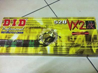 DID Superbike Chain 520 VX2 XRING (Rantai D.I.D)