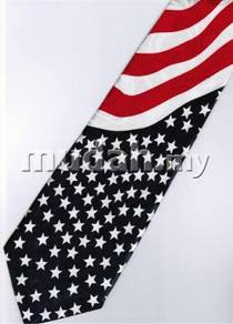 Patriotic American Flag Novelty Fancy Neck Tie 1