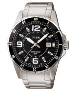 Casio Enticer BlackDial Men's Watch -MTP-1291D-1A2
