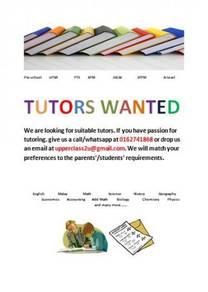 Tutor Wanted in Melaka
