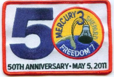 Mercury-Redstone 3 Freedom 7 50th Space Patch