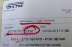 Tiket ETS / ETS TICKET