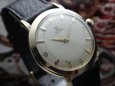 804) omega vintage automatic bumperamatic gold