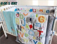BABY BEDDING 5 IN 1 SETS BLUE (o)
