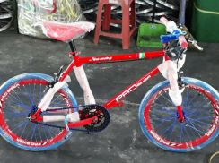 Red fixie bicycle 20