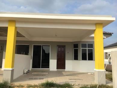 Rumah berkembar 1 tingkat di desa telok ira untuk dijual