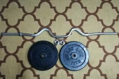 Curl Barbell Weight Plate Gym