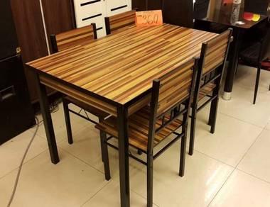 Stripe wood top dining table (Meja Makan)