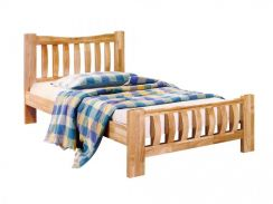 Katil kayu single bed bedframe perabot 425