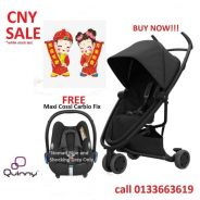 [cny promotion] quinny zapp flex stroller combo