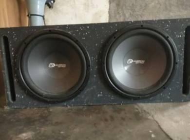 Speaker dan power amp untuk dijual
