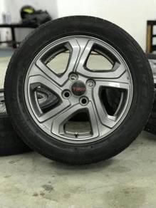 Original 15 inch sports rim trd vios tyre 70%