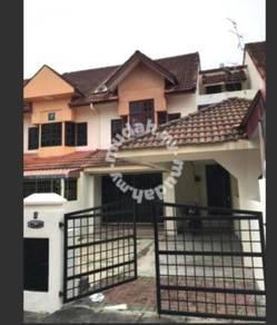 Double storey terrace house unfurnished