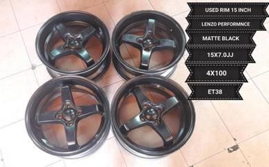 Rim 15 inch Lenso Thailand ET38 15x7.0jj pcd 4x100