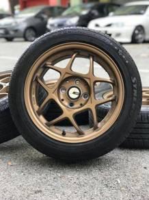 Ssr firenza 15 inch sports rim axia tyre 90%