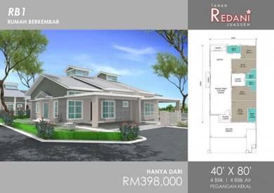 [3200 sqft] New House Semi D Taman Redani Juasseh