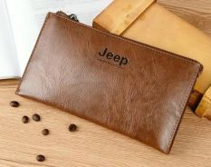 Genuine Leather Jeep Wallet Clutch For Men