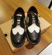 Dr Martins Black and White Oxford leather shoe