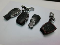 Mercedes Benz New and Old Model Leather Key Holder