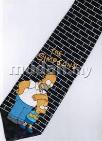 The Simpsons Homer Jay Bart Wall Cartoon Neck Tie