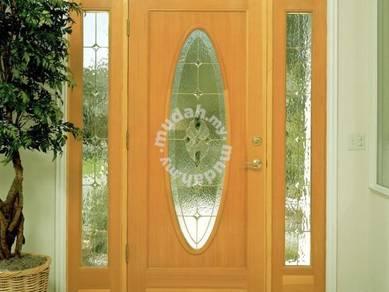 New modern grand glass door solid