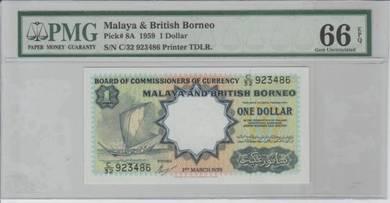 1959 MBB Kapal Layar 1 dollar PMG66EPQ