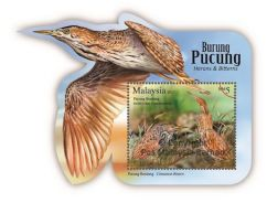 Miniature Sheet Herons & Bitterns Malaysia 2015