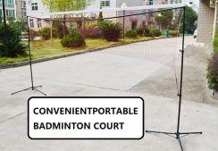 INTRODUCTORY badminton court net 3 meter portable