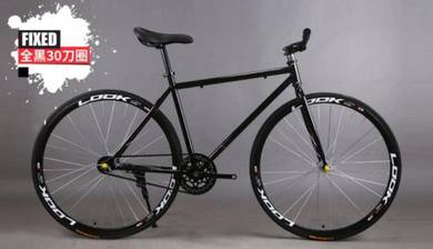 Basikal Fixie Fixed Gear Bicycle (Free Racing Bar)