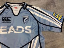 NEW Canterbury Cardiff Blues Rugby Shirt Home Pro