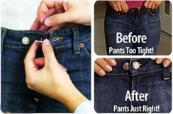 Perfect Fit Button Add an Inch Magic Pants Jeans