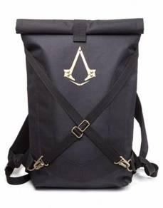 Assassins Creed Black Folded Backpack bag