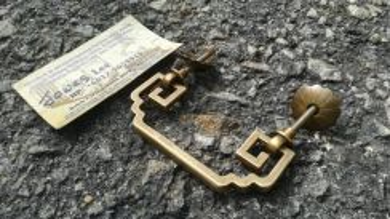 Ber1 Antique Style Brass Pull Handle Tembaga Antik
