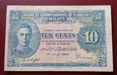 Malaya Ten Cents 1941 (C)