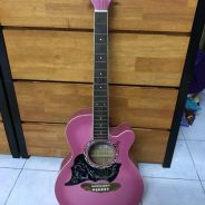 Pink Guitar Gypsy Rose Blink and Sparkle