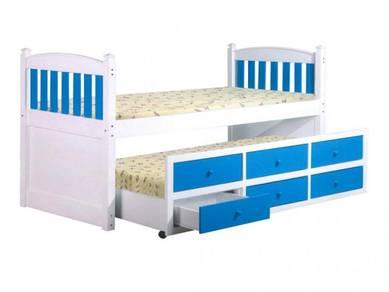 Katil kayu single divan bedframe perabot 407