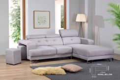 2 Seater L fabric sofa with stool(M-Belloni) 22/04