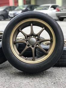 Ce28 15 inch sportsrim saga flx tyre 70%