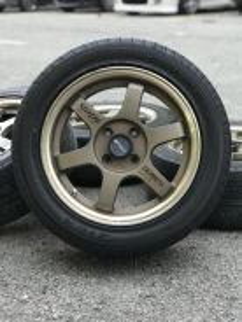 Te37 15 inch sports rim wira tyre 70%