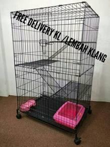 Sangkar kucing \ Cat cage (3 tingkat)