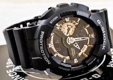 Watch- Casio G SHOCK GA110RG BLACK ROSE-ORIGINAL