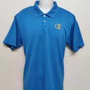 CHAMPION Collar T-shirt Blue size L (bundle)