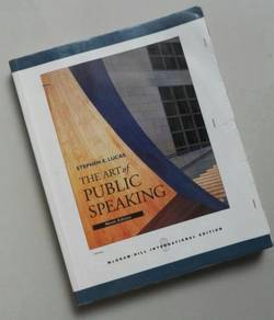 Buku Terpakai : The Art of Public Speaking