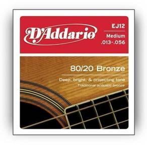 D'Addario EJ12 80/20 Bronze Acoustic Guitar String