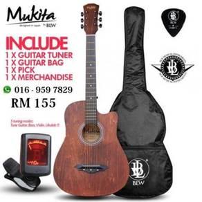 Mukita Akustik Gitar 38inch Pakej - Mukita 5 IN 1