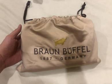 Beg kepit kulit untuk lelaki (Braun buffell)
