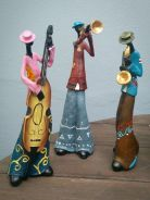 Home decoration musicians figurines