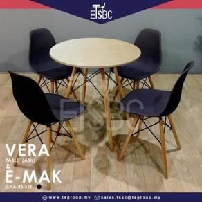 Vera table + 4 emak chairs