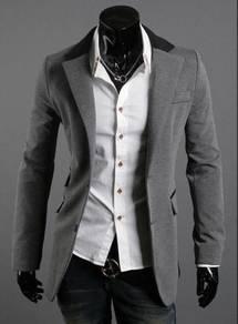 Excellent Dress Suit Blazer Men Coat Jacket (Grey)